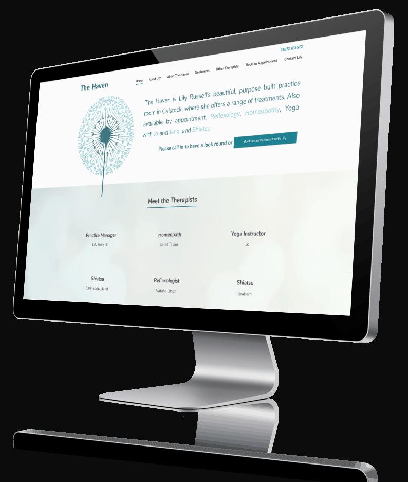Screen shot of the Haven website