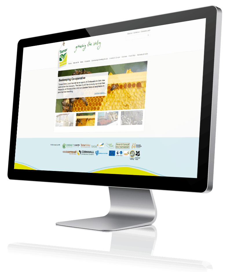 Screenshot of the Tamar Grow Local website